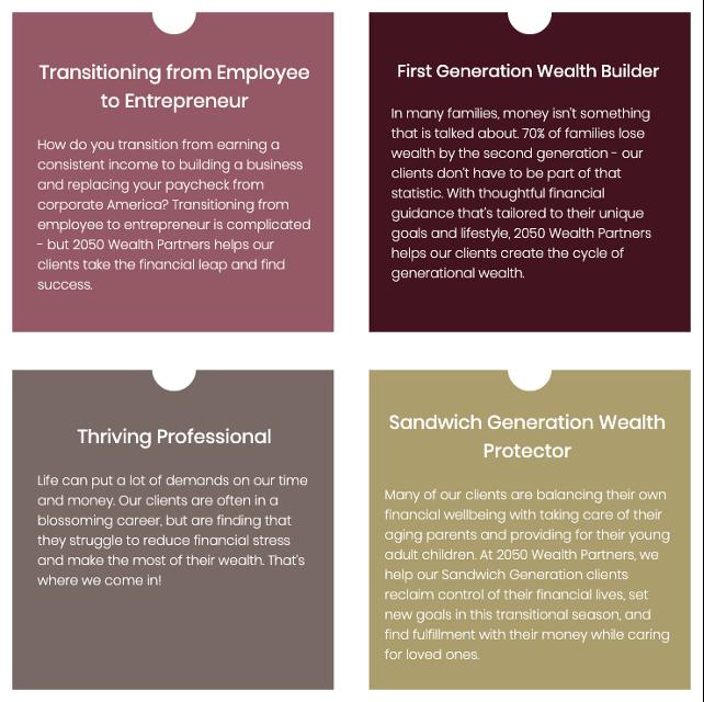 2050 Wealth Partners Website