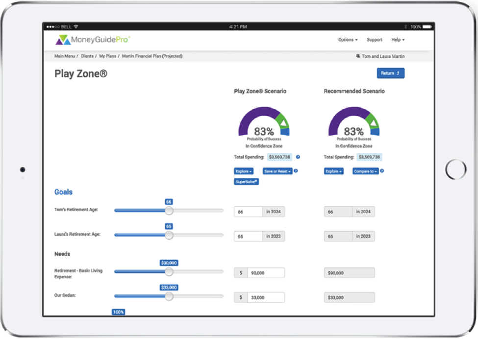 MoneyGuidePro Interactive Conversation