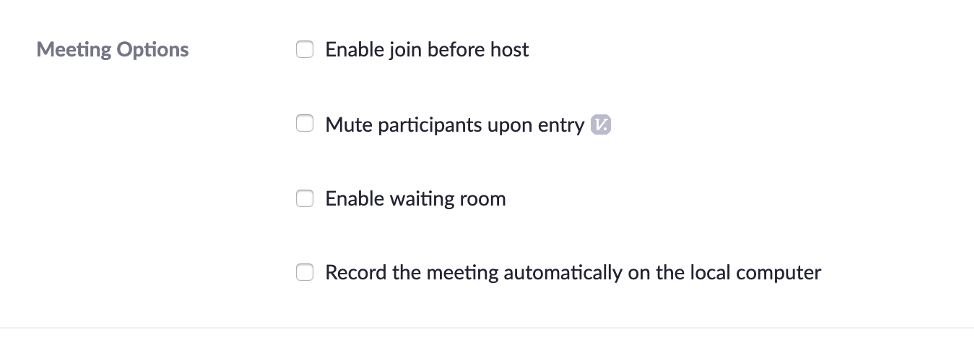 Zoom_Meeting Options