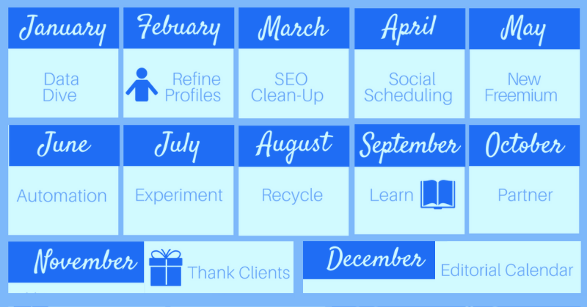 12 Months of Marketing Goals for Independent Financial Advisors
