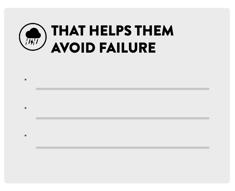 that helps them avoid failure
